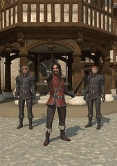 Fototapete - Medieval Town Guards
