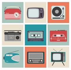 Retro Radio, TV and Other Electronic Equipment