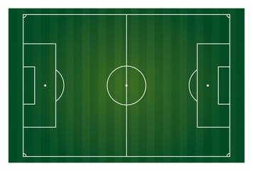 vector football field horizontal isolated