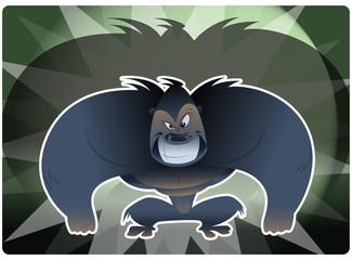 Aggressive gorrila