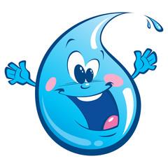 Blue happy drop