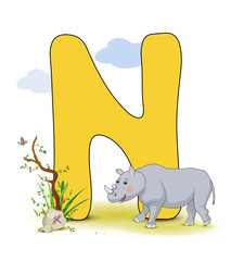 Alphabet, N Nashorn