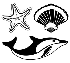 Marine life set.
