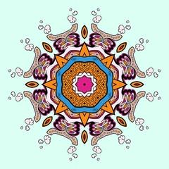 Circle lace steampunk ornament, round ornamental geometric