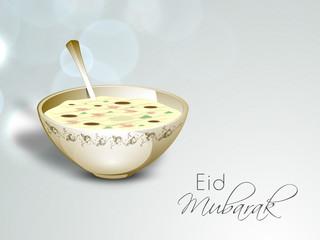 Abstract Muslim community festival Eid Mubarak background.