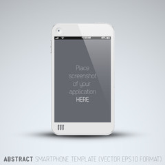 Abstract white mobile phone template