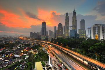 Fotorolgordijn Kuala Lumpur Kuala Lumpur City in the morning