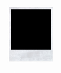 Polaroid Frame Front Side with Clipping Path