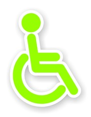 sticker of wheelchair toilet symbol