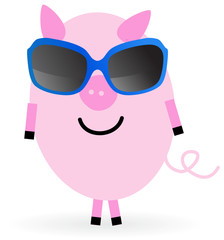 Schwein mit Sonnenbrille