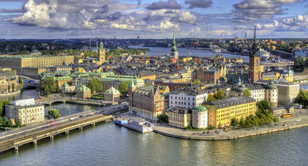 Aerial view of Stockholm.