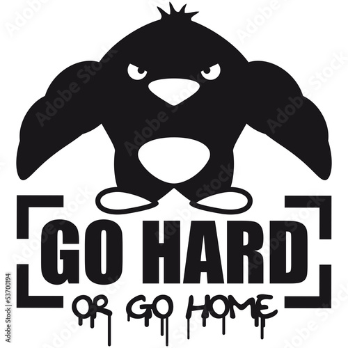 Go Hard Or Go Home Muscle Penguin Stock Photo And Royalty