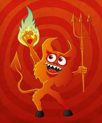 Cartoon devil.