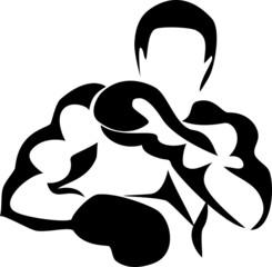 stylized boxer