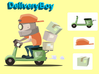 robot delivery boy