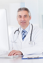 Portrait Of Mature Male Doctor