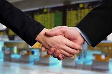Symbol of agreement, business handshake