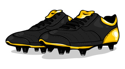 vector black football boots