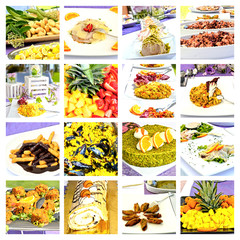 Collage Menu - from salty to sweet