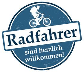 Fototapete - Radfahrer sind herlich willkommen!