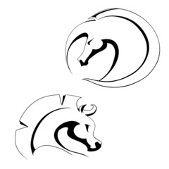 emblems of the two horses