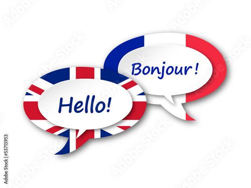 Quot English French Translation Language Speech Bubbles