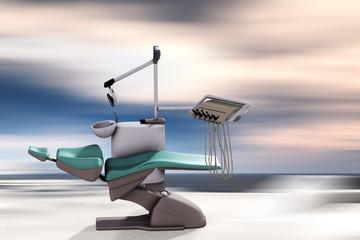 Moderner Behandlungsstuhl beim Zahnarzt