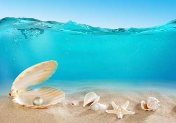 Pearl underwater
