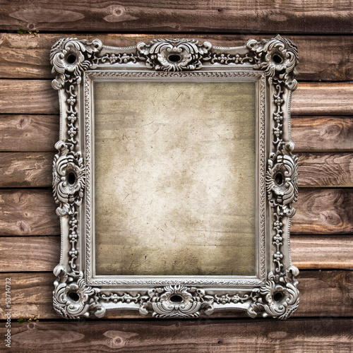 quot cadre baroque rectangulaire fond bois quot photo libre de droits sur la banque d images fotolia