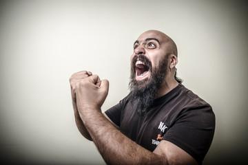 winner bearded man
