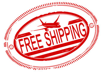 Free shipping rubber stamp.