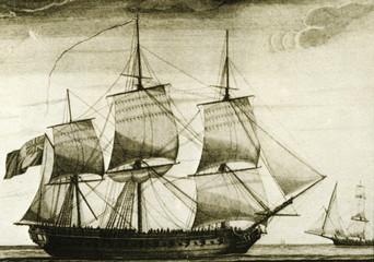 English corvette ca. 1770