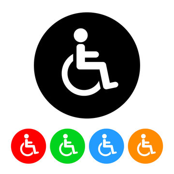 Wheelchair Handicap Symbol Icon Vector