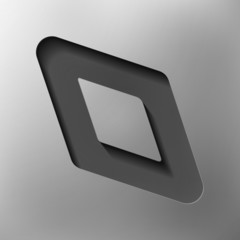 parallelogram, abstract icon