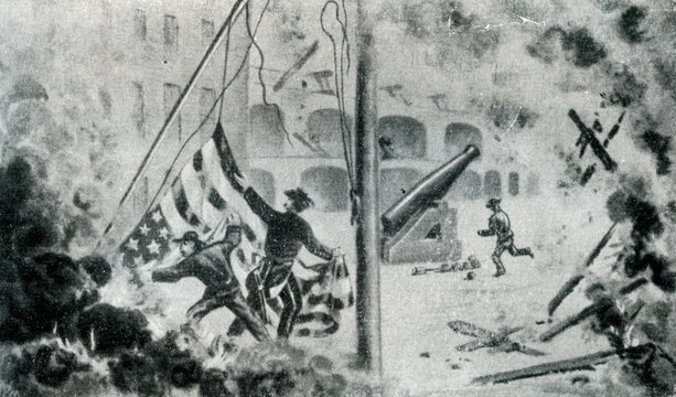 Bombardment of Fort Sumter (United States, april 12, 1861)