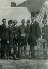 Lincoln with McClellan after the Battle of Antietam (1862)