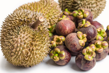 Durians and mangosteen