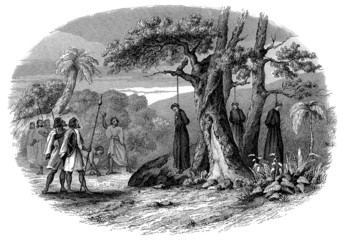 Hanged Christian Priests - Ethiopia - 17th century