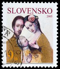 Slovakian post stamp
