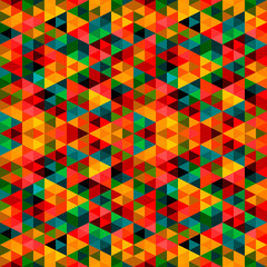 Poster ZigZag Abstract Pixel Triangle Pattern