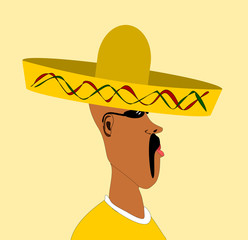man wearing sombrero