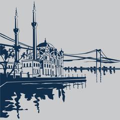 Ortaköy  Camii ( ISTANBUL )