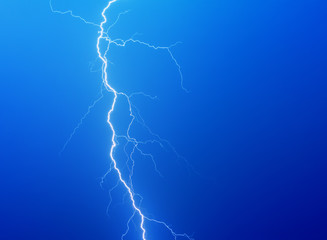 Lightning on a dark blue background
