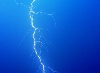 Lightning on a dark blue background