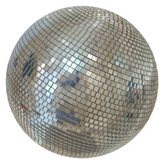 Huge Disco Ball Isolated On White Background