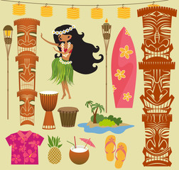 Hawaii Symbols and Icons
