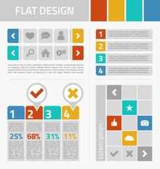Flat design kit