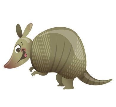 Cartoon armadillo animal