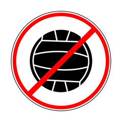sign prohibiting volleyball