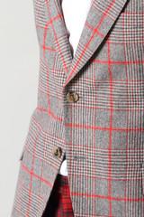 giacca grigio rossa